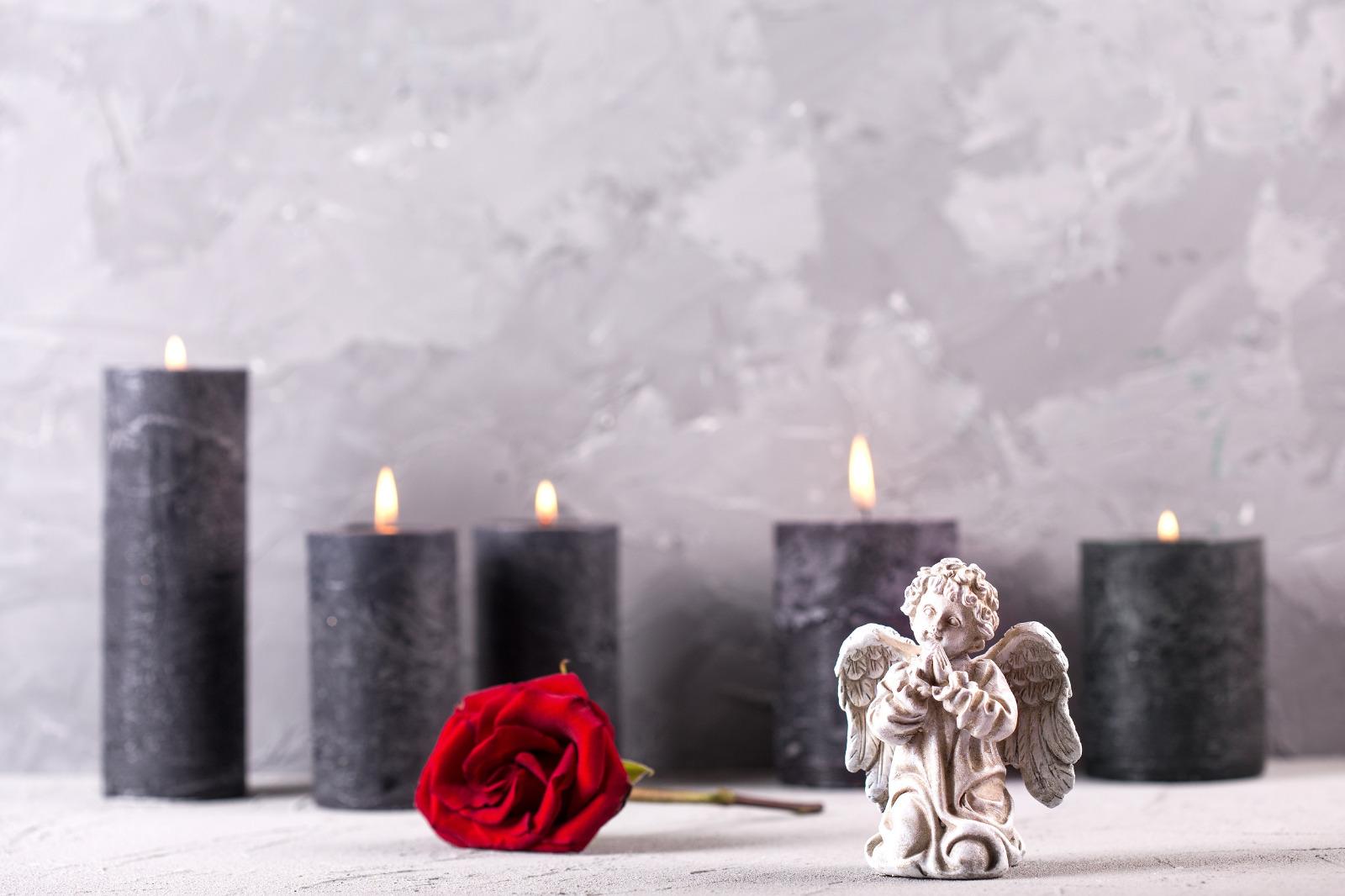 Kerzen Engel Rose